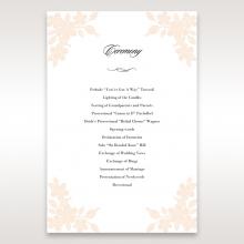Embossed Floral Frame wedding stationery order of service ceremony invite card design