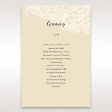 Embossed Floral Pocket wedding stationery order of service ceremony card design