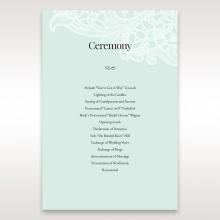 Embossed Gatefold Flowers wedding stationery order of service card