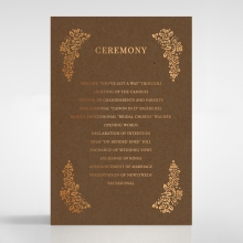 Enchanted Crest order of service stationery invite card design