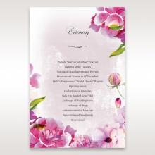 Enchanting Forest 3D Pocket wedding stationery order of service invite card design