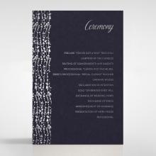 Enchanting Halo wedding stationery order of service card design