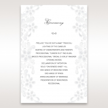 Enchanting Ivory Laser Cut Floral Wrap order of service card