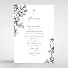 English Rose order of service invitation