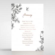 English Rose order of service invitation card