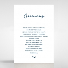Eternal Simplicity order of service invitation card