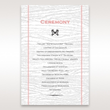 Eternity order of service ceremony card