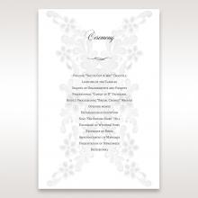 Everlasting Love wedding stationery order of service invite