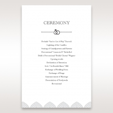 Everly order of service invite card