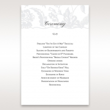 Exquisite Floral Pocket wedding order of service invite card