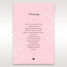 Exquisitely Embossed Floral Pocket order of service ceremony stationery invite card design