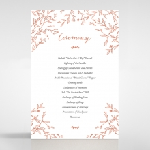 Fleur wedding order of service invitation card