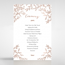 Fleur wedding order of service invitation card design