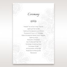 Floral Laser Cut Elegance Black order of service invite card design