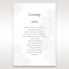 Floral Laser Cut Elegance order of service stationery