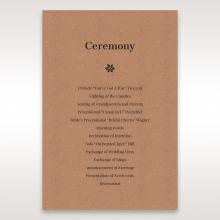 Floral Laser Cut Rustic Gem order of service wedding card design