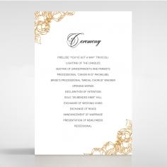 Flourishing Garden Frame order of service invite card design