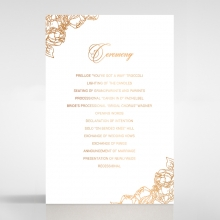Flourishing Garden Frame wedding order of service invitation