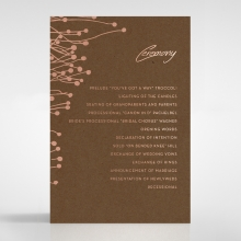 Flourishing Romance wedding order of service invitation card design