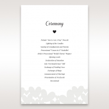 Fluttering Hearts  wedding order of service invite
