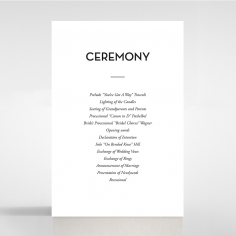 Frosted Chic Charm Paper wedding order of service card design