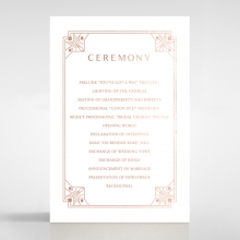 Gatsby Glamour order of service wedding card
