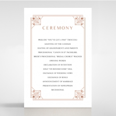 Gatsby Glamour wedding order of service invitation card design
