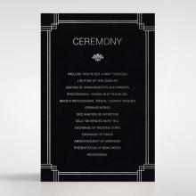 Gilded DecGDence wedding order of service invitation card design