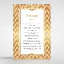 Gilded Glamour order of service invite card design