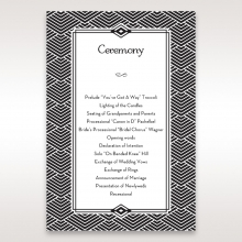 Glitzy Gatsby Foil Stamped Patterns in Gold order of service stationery