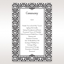 Glitzy Gatsby Foil Stamped Patterns order of service ceremony card design