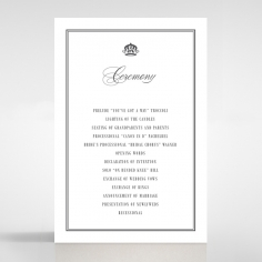 Golden Baroque Gates order of service invite card design