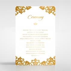 Golden Baroque Pocket with Foil order of service card