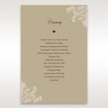 Golden Beauty order of service ceremony stationery card