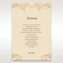 Golden Charisma wedding stationery order of service ceremony card