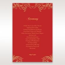 Golden Charisma wedding stationery order of service ceremony card design