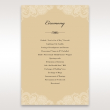 Golden Classic order of service card design