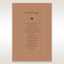 Golden Country Lace With Twine wedding stationery order of service ceremony invite card design
