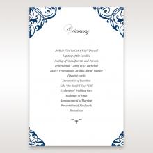 Graceful Ivory Pocket wedding stationery order of service ceremony invite card design