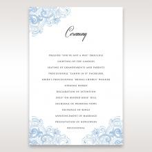 Graceful Wreath Pocket order of service stationery card