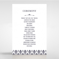Gradient Glamour order of service card