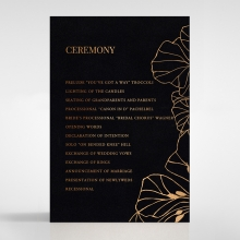 Grand Flora order of service wedding invite card