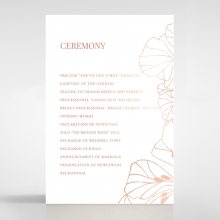 Grand Flora order of service wedding card