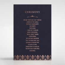 GrGDient Glamour wedding order of service invitation card