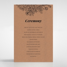 Hand Delivery wedding order of service invite card