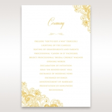 Imperial Glamour with Foil wedding stationery order of service ceremony invite card design