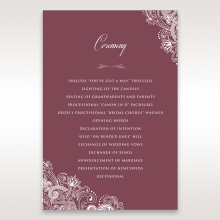 Imperial Glamour without Foil wedding stationery order of service ceremony invite card design