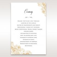 Imperial Glamour without Foil order of service card