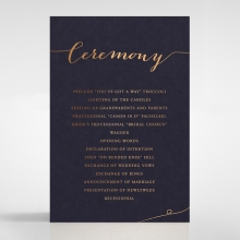 Infinity wedding order of service invitation card