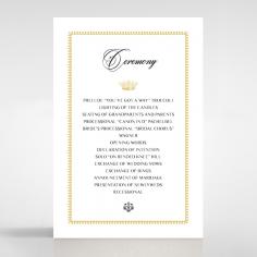 Ivory Doily Elegance order of service wedding card design